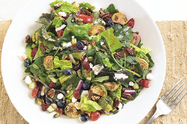 Kale & Roasted Brussels Sprouts Salad*