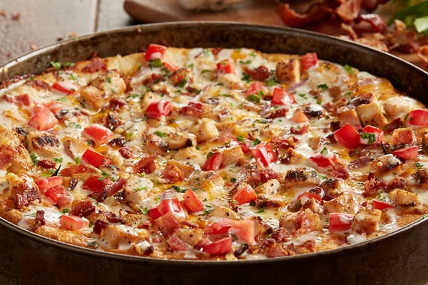Chicken Bacon Ranch Deep-Dish Pizza