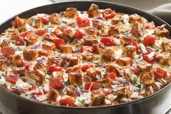 Barbecue Chicken Deep-Dish Pizza