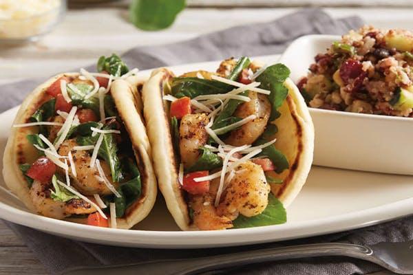 Shrimp & Arugula Pita Tacos