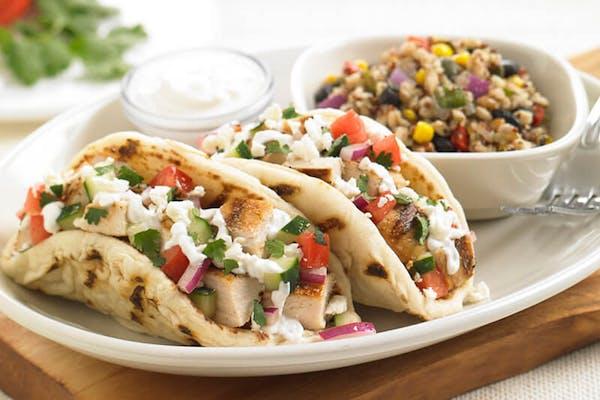 Mediterranean Chicken Pita Tacos