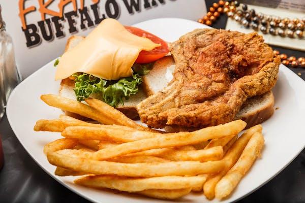Pork Chop Sandwich & Fries