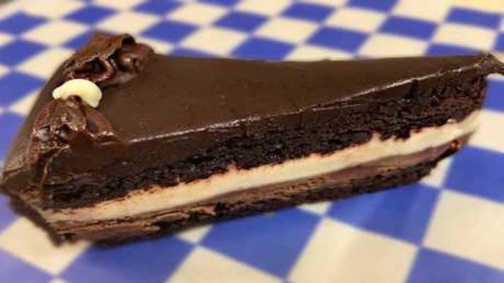 White & Dark Chocolate Mousse Cake