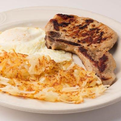 Pork Chop & Eggs