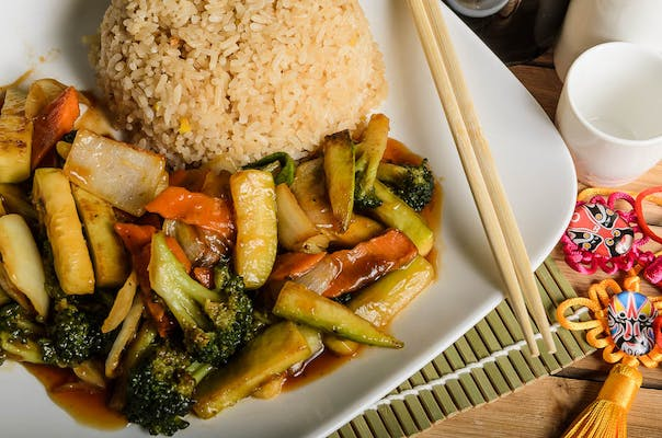 Mixed Vegetable Hibachi (Lunch)