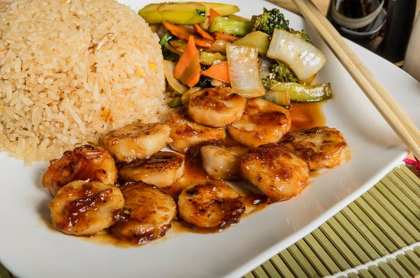 Scallops Hibachi (Lunch)