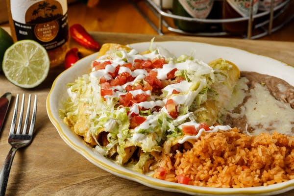 Enchiladas Rojas or Verdes