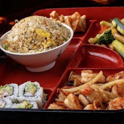 Sautéed Shrimp Bento Box (Lunch)