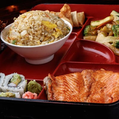 Grilled Salmon Bento Box (Lunch)