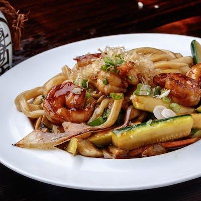 Shrimp Yaki Udon or Yakisoba (Lunch)