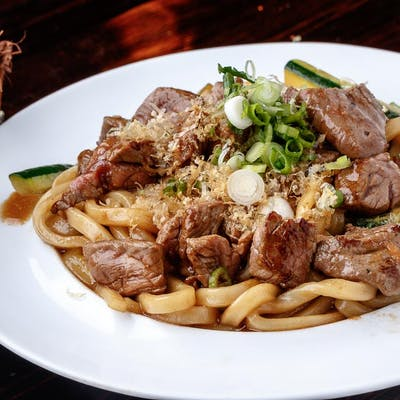 Beef Yaki Udon or Yakisoba (Lunch)
