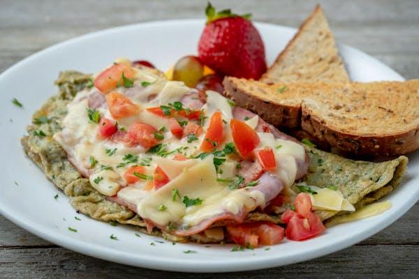 Green Eggs & Ham Omelette