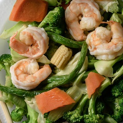 Shrimp & Mixed Vegetables