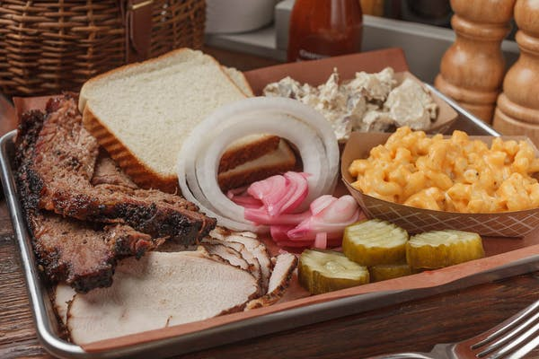 Two BBQ Meat Plate