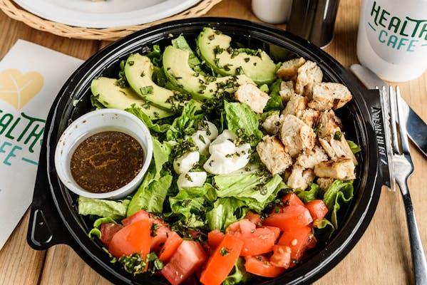 Grilled Chicken Avocado Caprese Salad