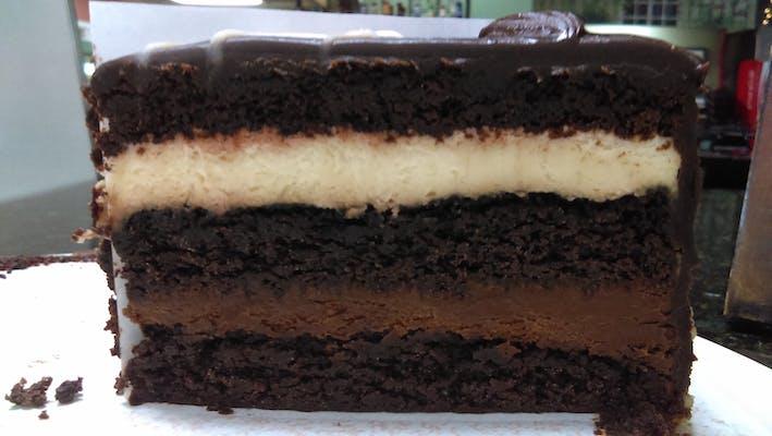 White Dark Chocolate Mousse Cake