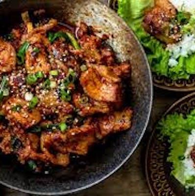 Spicy Korean Pork and Cauliflower Rice