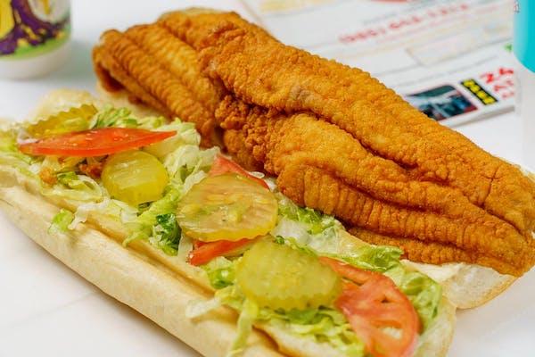 Louisiana-Raised Fried Catfish Po Boy