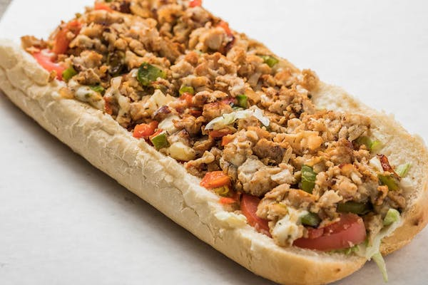 Chicken Philly Cheesesteak Po Boy
