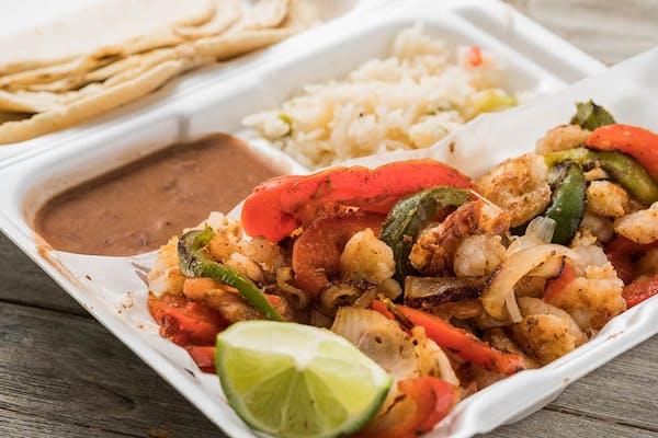 Shrimp Sizzling Fajita Plate