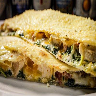 Creamy Chicken & Spinach Quesadilla