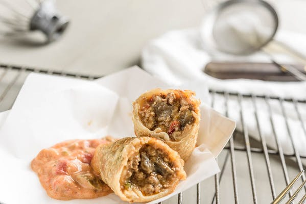 Philly Cheese Egg Roll