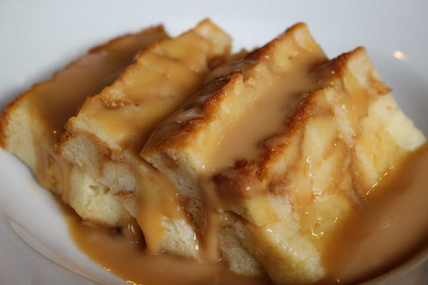 Bourbon Caramel Bread Pudding