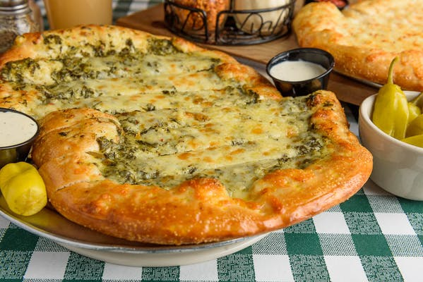 Spinach Artichoke Cheesy Bread
