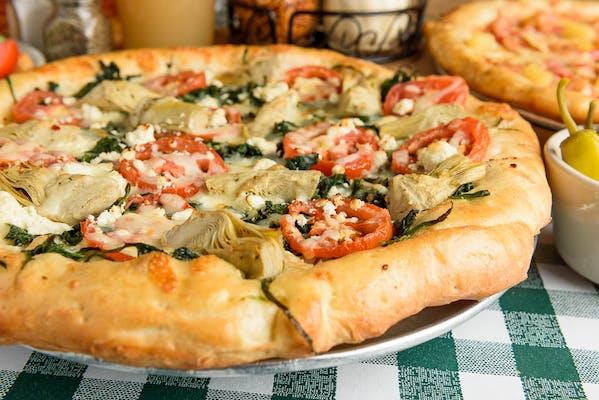 The White Veggie Pizza