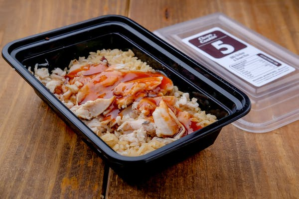 #5 Smoked Chicken, Brown Rice, & BBQ Sauce