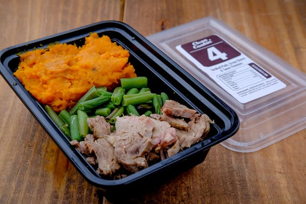 #4 Pulled Pork, Green Beans & Sweet Potatoes