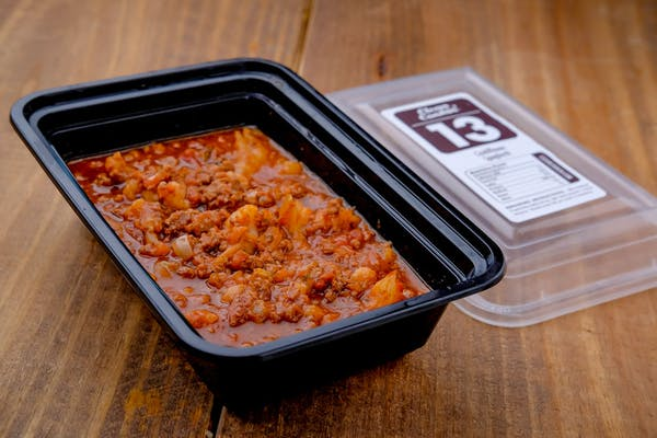 13. Gunpowder Brisket Baked Beans & Spicy Barbecue Sauce