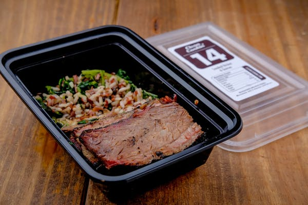 #14 Gun Powder Brisket, Roasted Quinoa ,Kale, Brown & Red Rice, and Black Barley