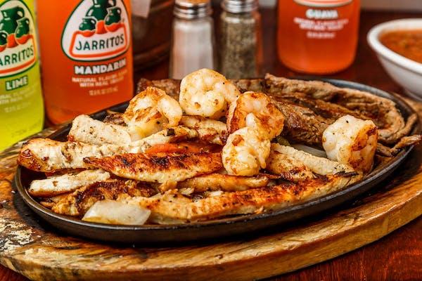 Steak or Chicken or Shrimp Fajitas?