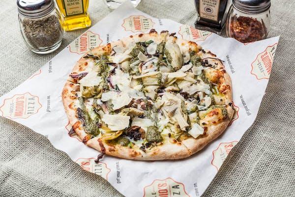 Alfredo Artichoke Pizza