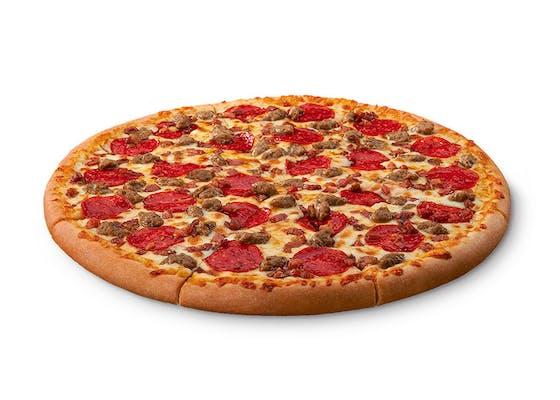 ExtraMostBestest Three-Meat Treat Pizza