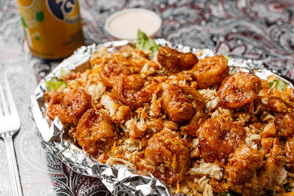 Fried Chicken & Shrimp Salad