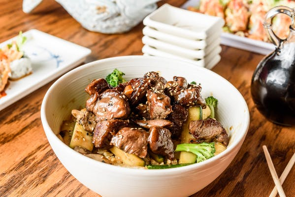 Lunch Chicken and Beef Bowl