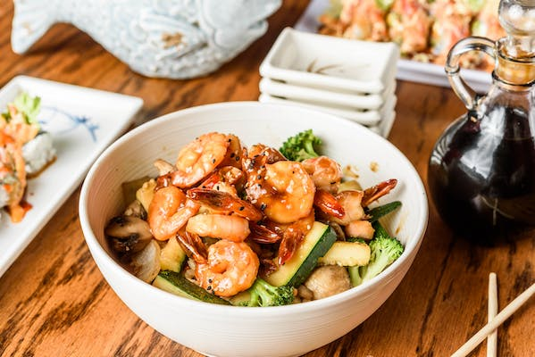Lunch Chicken and Shrimp Bowl