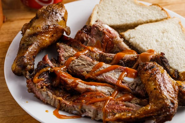 Large Chicken & Rib Combo Plate