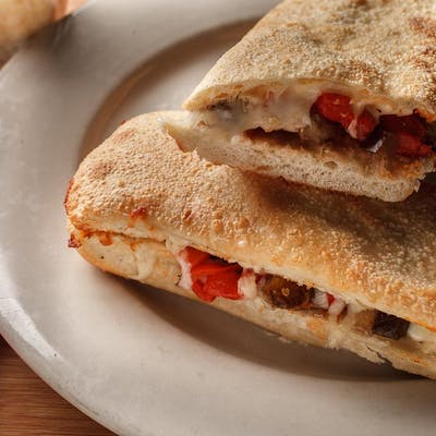 Roasted Eggplant & Red Peppers