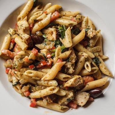 Shrimp or Chicken Pesto Pasta