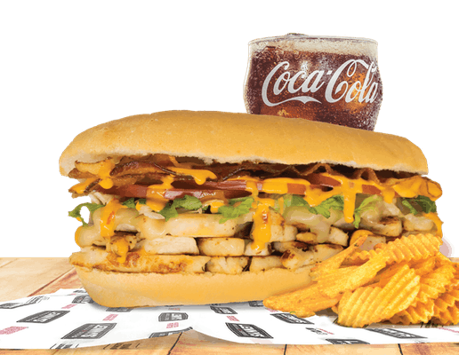 """Southwest Grilled Chicken 5"""" Sub Combo"""