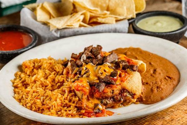 Fajita Chicken or Beef Chile Relleno