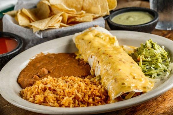 Chicken or Beef Fajita Burrito
