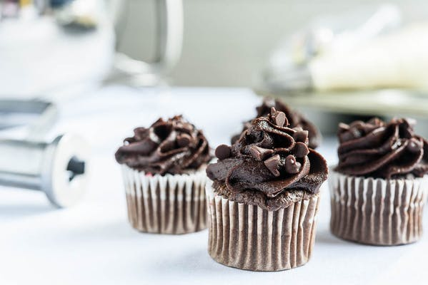 Chocolate Mini Cupcake Dozen