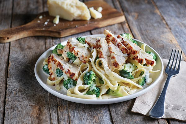 Classic Broccoli Shrimp Alfredo