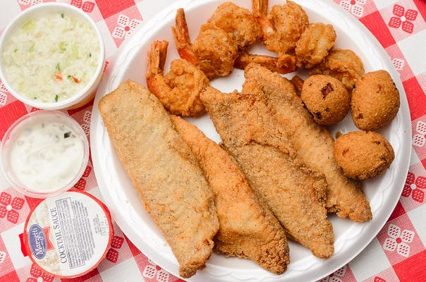 (6 pc.) Fried Shrimp & Fried Tilapia