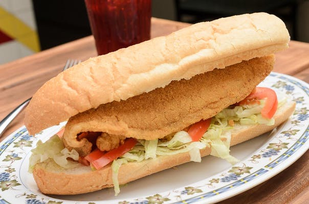 Fried Catfish PoBoy & Fries