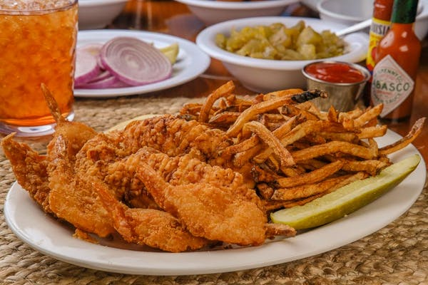 Chicken Tender and Fried Shrimp Dinner
